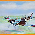 Spitfire sur la Normandie