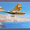 PBY Catalina (III) en vol sur Lisbonne