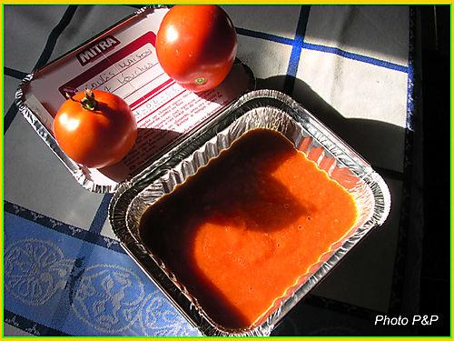 Coulis de tomates du jardin