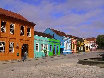 Maisons colorees de CURITIBA - BRESIL