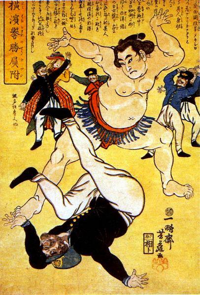 Yokohama-e sumo