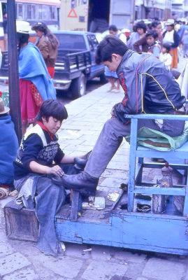 Cireur de chaussures Quito