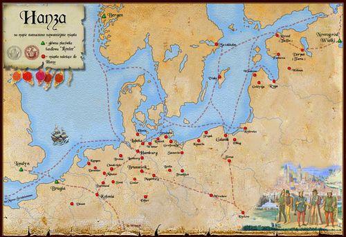 Carte des villes de la Hanse