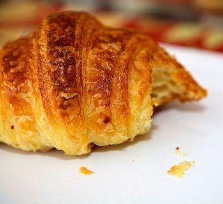 Croissant entamé